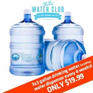 Bottles of 3 Gallon Drinking Water
